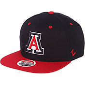 Zephyr Men's Arizona Wildcats Navy/Cardinal Script Adjustable Snapback Hat