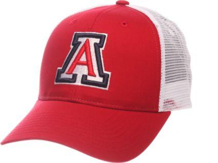 big sale cc213 3b4f2 Zephyr Men s Arizona Wildcats Cardinal White Big Rig Adjustable Hat