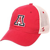 Zephyr Men's Arizona Wildcats Cardinal/Cream Trucker Logo Snapback Hat