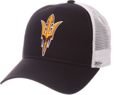 Zephyr Men's Arizona State Sun Devils Black/White Big Rig Adjustable Hat