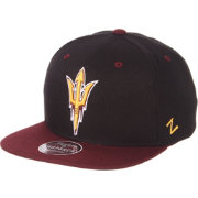 Zephyr Men's Arizona State Sun Devils Black/Maroon Script Adjustable Snapback Hat