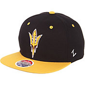 48b3dcc158f Product Image · Zephyr Men s Arizona State Sun Devils Black Gold Script  Adjustable Snapback Hat
