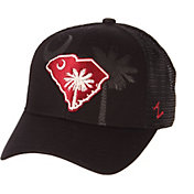 Zephyr Men's South Carolina Gamecocks State Flag Adjustable Black Hat