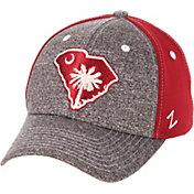 Zephyr Men's South Carolina Gamecocks Grey/Garnet State Flag Adjustable Hat
