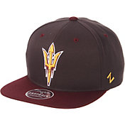 Zephyr Men's Arizona State Sun Devils Grey/Maroon Script Adjustable Snapback Hat