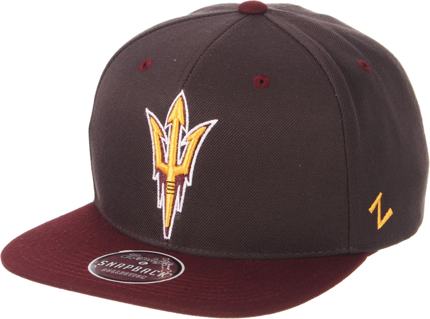 Zephyr Men's Arizona State Sun Devils Grey/Maroon Script Adjustable Snapback Hat