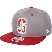 Zephyr Men's Stanford Cardinal Grey/Cardinal Script Adjustable Snapback Hat