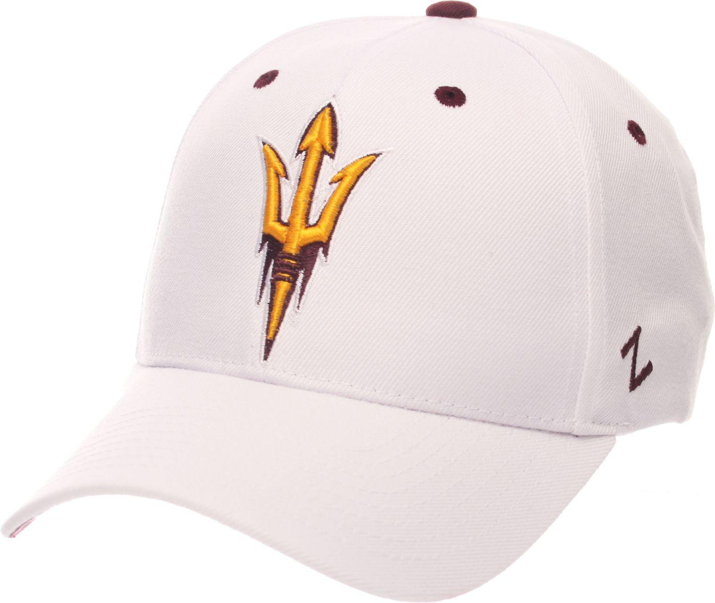 Zephyr Men's Arizona State Sun Devils White Competitor Adjustable Hat