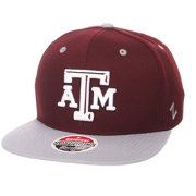 Zephyr Men's Texas A&M Aggies Maroon/Grey Script Adjustable Snapback Hat