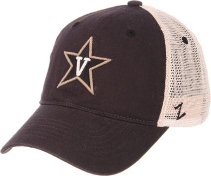 Zephyr Men s Vanderbilt Commodores Grey Cream Trucker Logo Snapback Hat 856e0b6fd0c