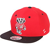 Zephyr Men's Wisconsin Badgers Red/Black Script Adjustable Snapback Hat
