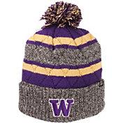 Zephyr Men's Washington Huskies Grey/Purple Pom Knit Beanie