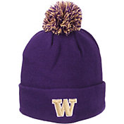 Zephyr Men's Washington Huskies Purple Pom Knit Beanie