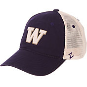 a324db4eba9f6e Product Image · Zephyr Men's Washington Huskies Purple/Cream Trucker Logo  Snapback Hat