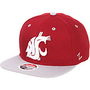 Zephyr Men's Washington State Cougars Crimson/Grey Script Adjustable Snapback Hat
