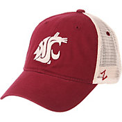 Zephyr Men's Washington State Cougars Crimson/Cream Trucker Logo Snapback Hat