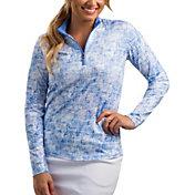 SanSoleil Women's SolCool Half-Zip Tennis Pullover