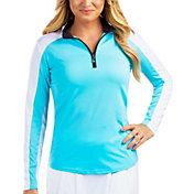 SanSoleil Women's Vented Back Half-Zip Tennis Pullover