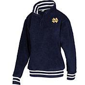 ZooZatz Men's Notre Dame Fighting Irish Navy Sherpa Quarter-Zip Fleece Jacket