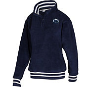ZooZatz Women's Penn State Nittany Lions Blue Sherpa Quarter-Zip Fleece Jacket