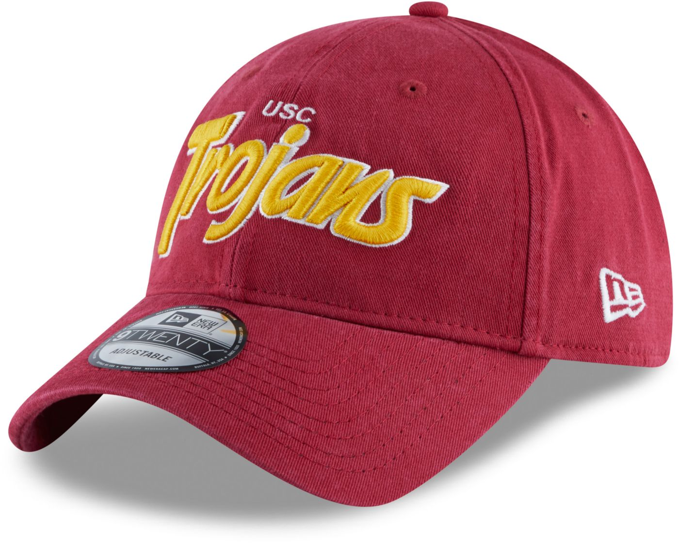 New Era Men's USC Trojans Cardinals Retro Script Adjustable Hat