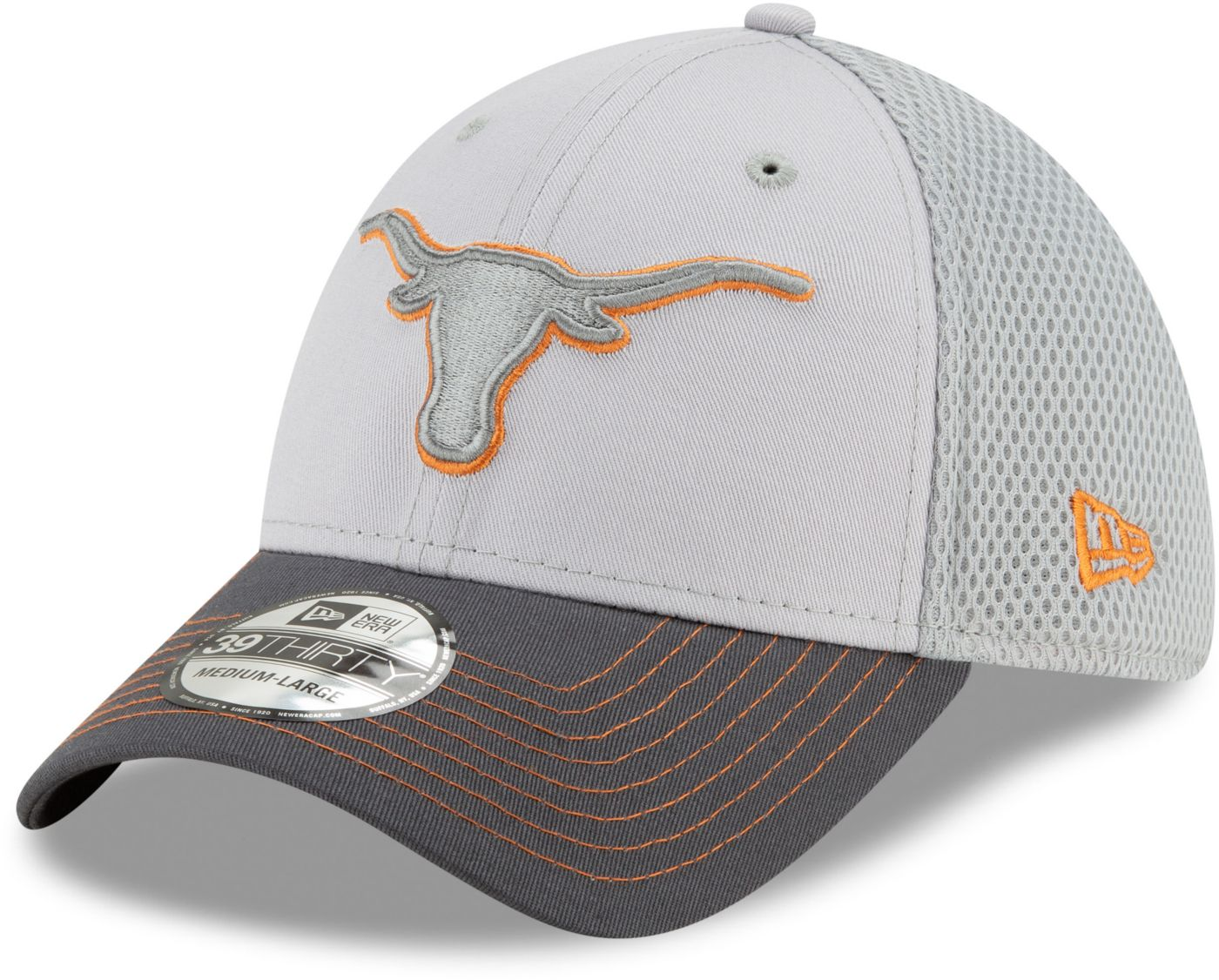 New Era Men's Texas Longhorns Grey Neo Flexfit Hat