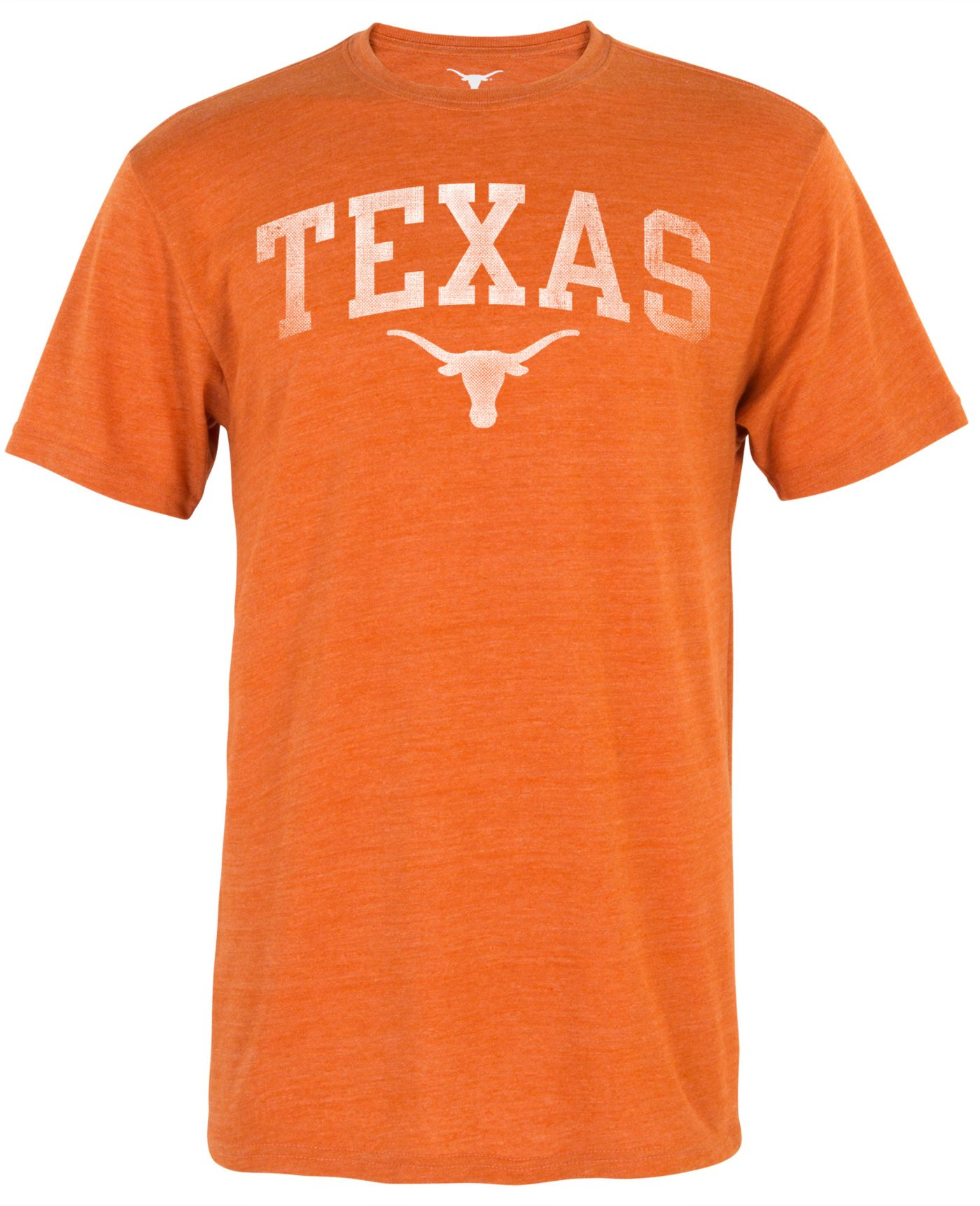University of Texas Authentic Apparel Men's Texas Longhorns Burnt Orange Arch Tri-Blend T-Shirt