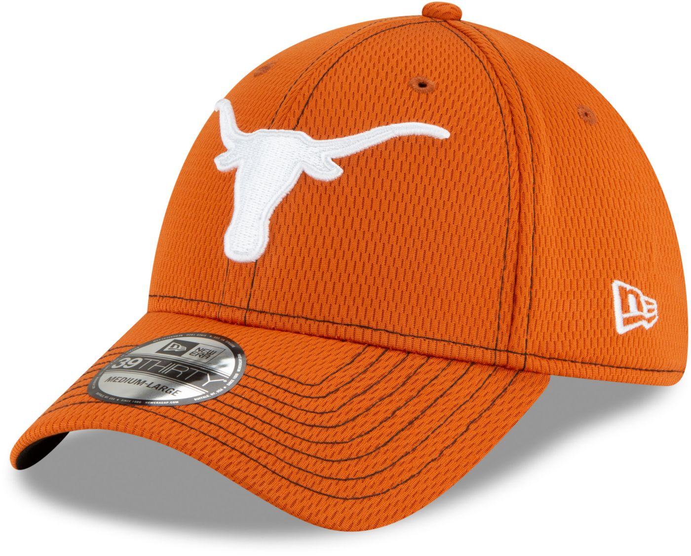 New Era Men's Texas Longhorns Burnt Orange Road 3930 Flexfit Hat