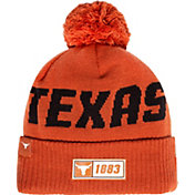 New Era Men's Texas Longhorns Burnt Orange Sideline Road Cuffed Knit Beanie