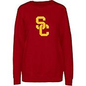 USC Authentic Apparel Women's USC Trojans Cardinal Silhouette Crew Neck Sweatshirt