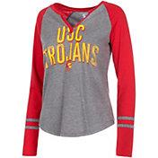 USC Authentic Apparel Women's USC Trojans Grey Diane Long Sleeve T-Shirt