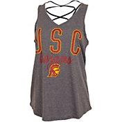 USC Authentic Apparel Women's USC Trojans Grey Hendrix Tank Top