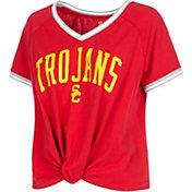 USC Authentic Apparel Women's USC Trojans Cardinal Channing V-Neck T-Shirt