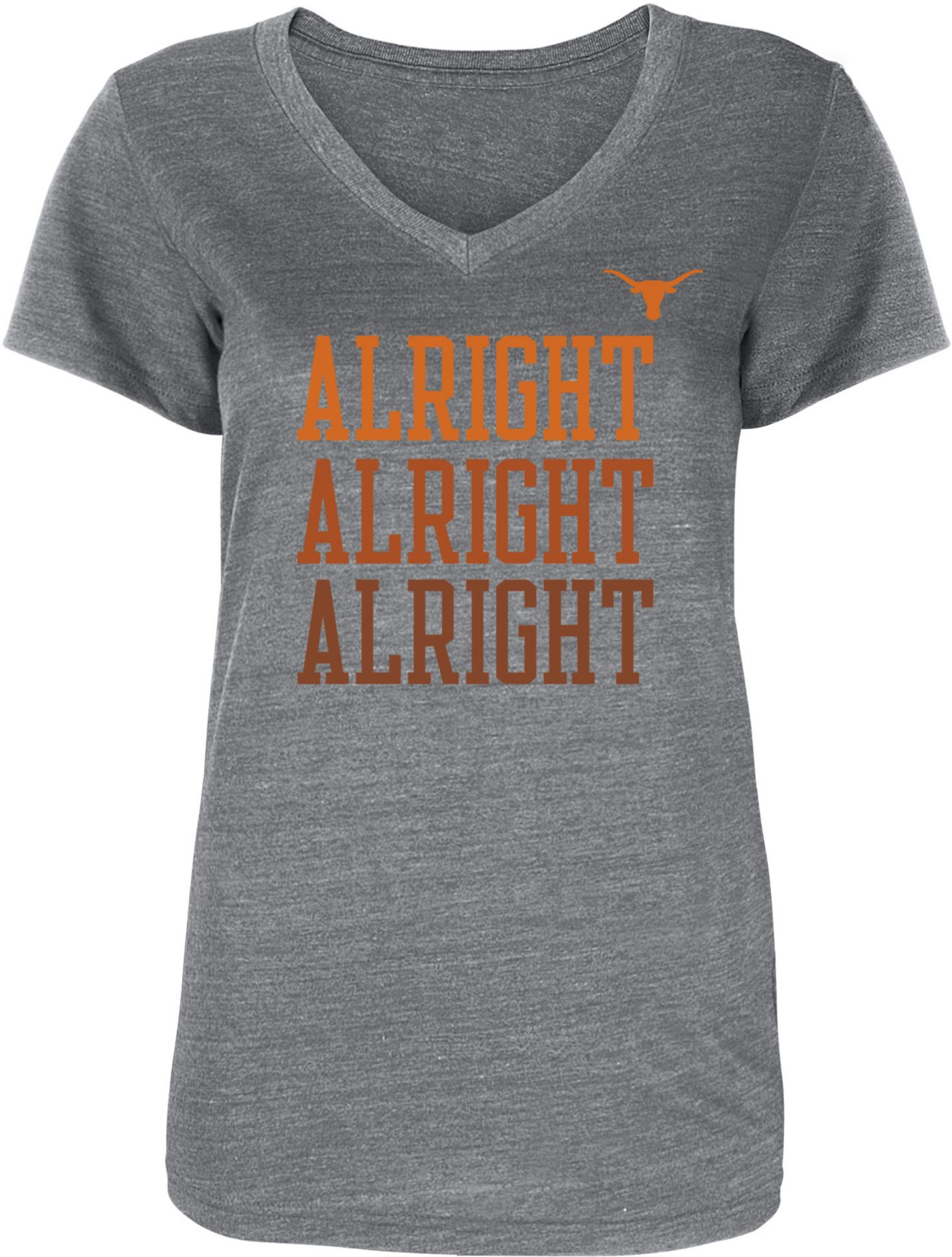 University of Texas Authentic Apparel Women's Texas Longhorns Grey Shae V-Neck T-Shirt