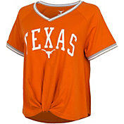 University of Texas Authentic Apparel Women's Texas Longhorns Burnt Orange Channing V-Neck T-Shirt