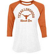 University of Texas Authentic Apparel Women's Texas Longhorns White/Burnt Orange Lorena 3/4 Sleeve T-Shirt