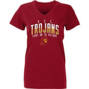 USC Authentic Apparel Youth USC Trojans Cardinal Amara V-Neck T-Shirt