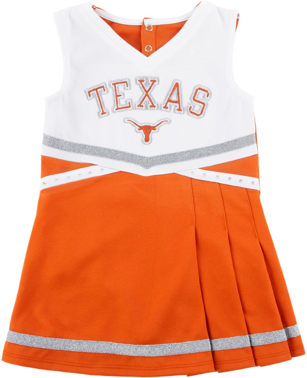 reputable site edb09 7db67 University of Texas Authentic Apparel Youth Girls' Texas Longhorns Burnt  Orange Cheer Dress