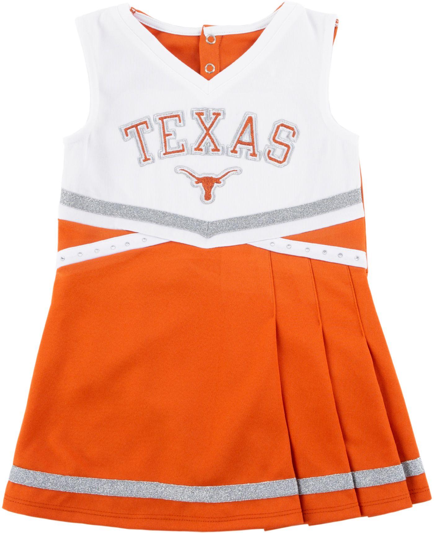 University of Texas Authentic Apparel Youth Girls' Texas Longhorns Burnt Orange Cheer Dress