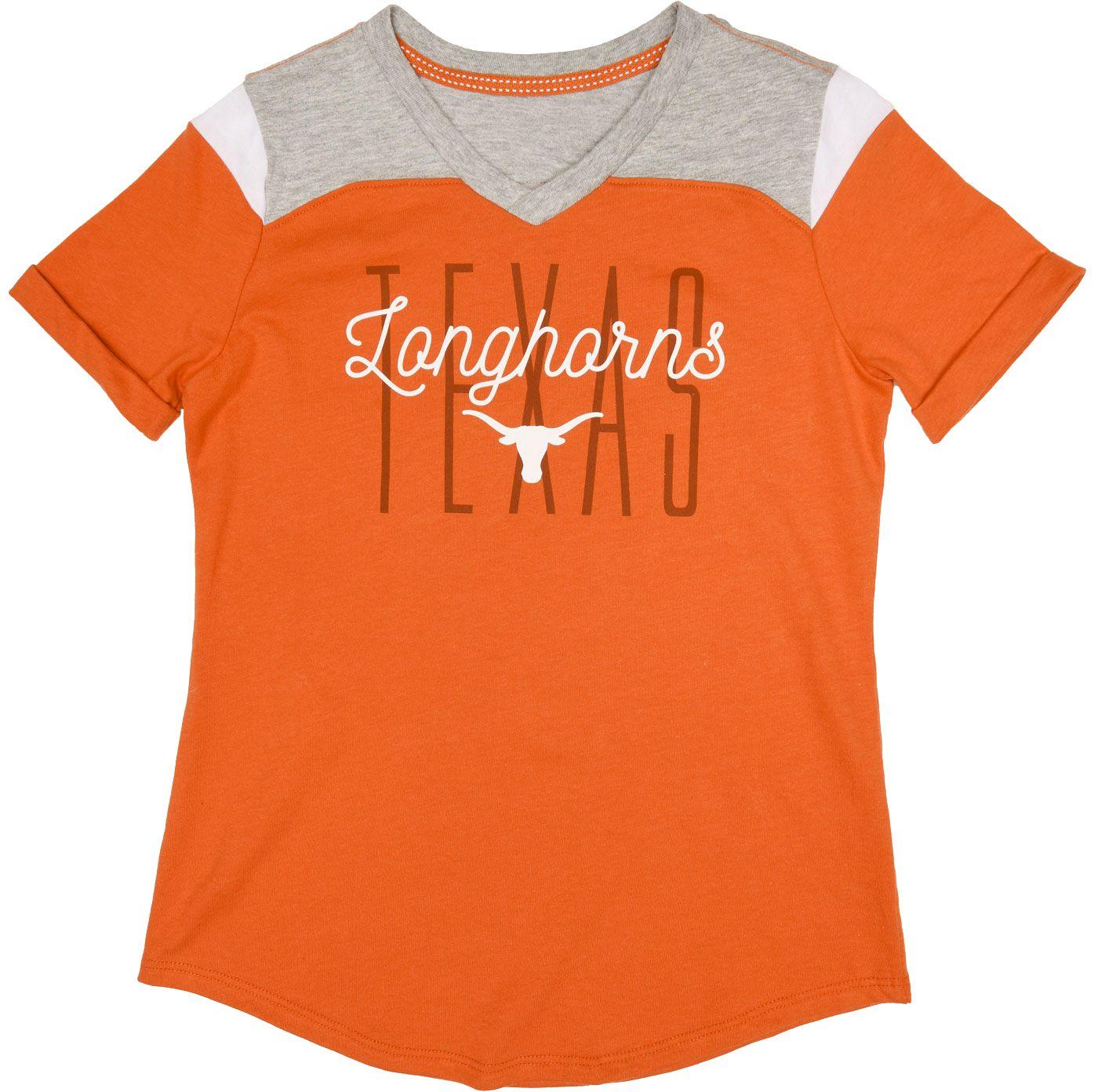 University of Texas Authentic Apparel Youth Girls' Texas Longhorns Burnt Orange Kassidy T-Shirt