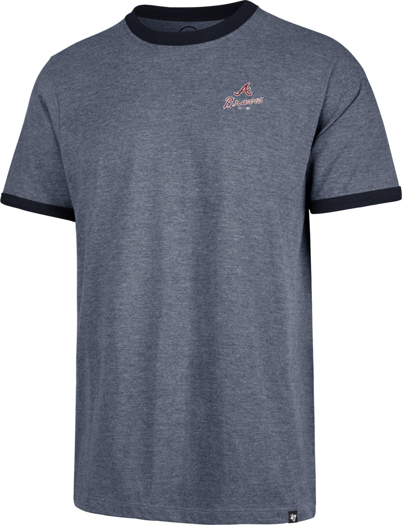 '47 Men's Atlanta Braves Rundown Ringer T-Shirt