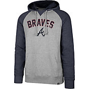 '47 Men's Atlanta Braves Raglan Pullover Hoodie