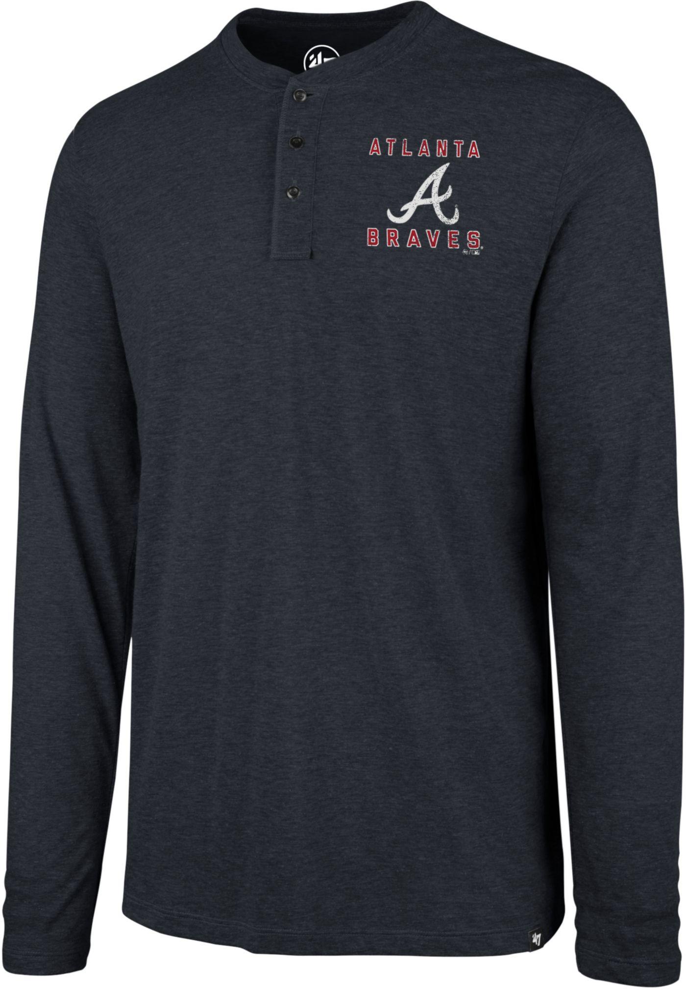 '47 Men's Atlanta Braves Henley Long Sleeve Shirt
