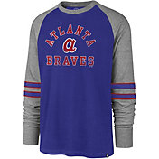 '47 Men's Atlanta Braves Royal Wind-up Raglan Long Sleeve Shirt