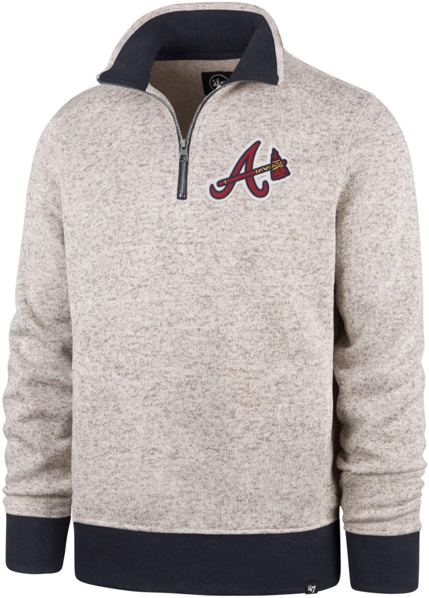 '47 Men's Atlanta Braves Kodiak Quarter-Zip Pullover