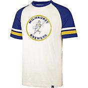 '47 Men's Milwaukee Brewers Cream Cooperstown Tri-Blend Raglan T-Shirt