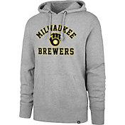 '47 Men's Milwaukee Brewers Grey Headline Pullover Hoodie