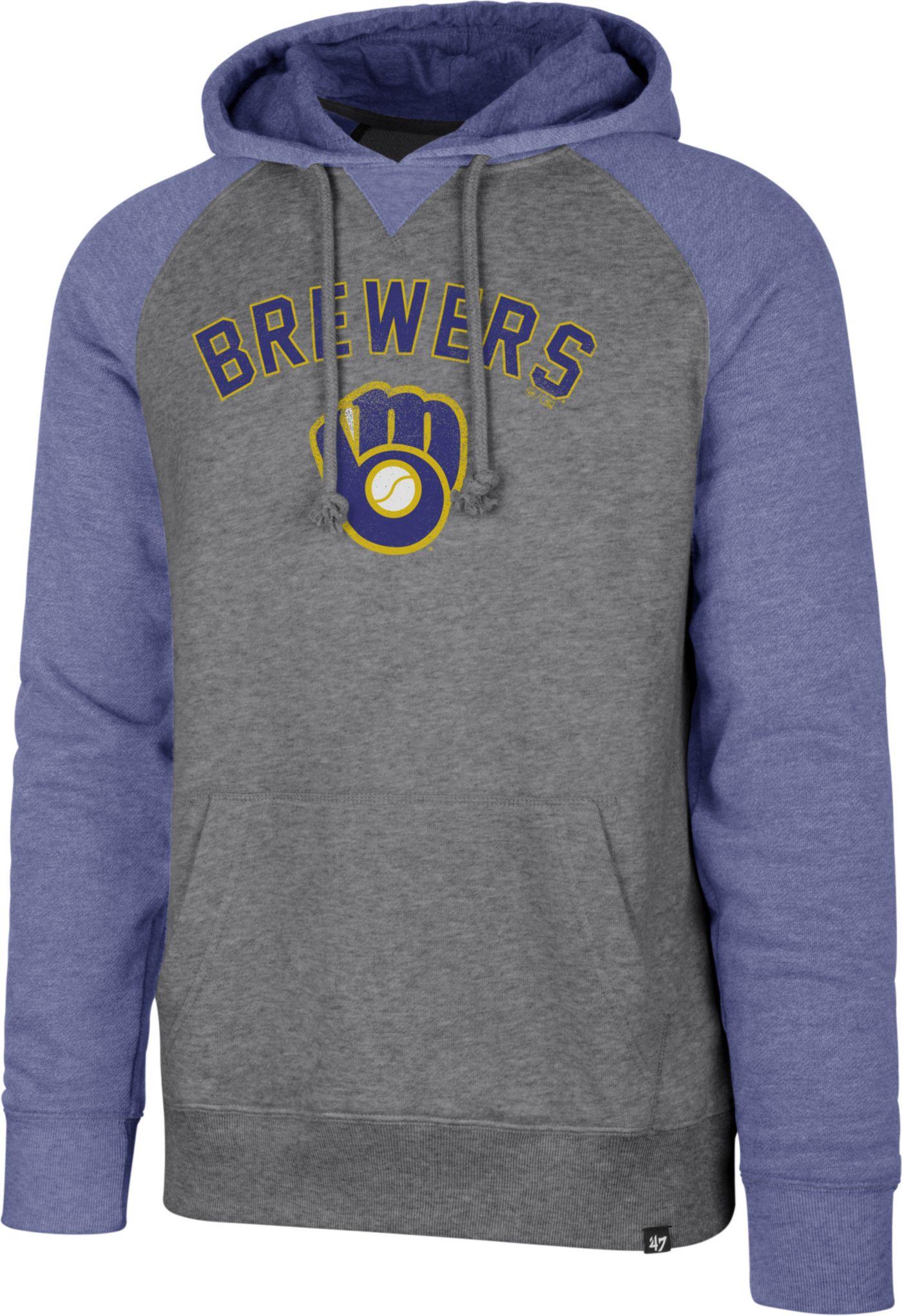 '47 Men's Milwaukee Brewers Raglan Pullover Hoodie
