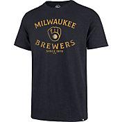 '47 Men's Milwaukee Brewers Navy Scrum T-Shirt