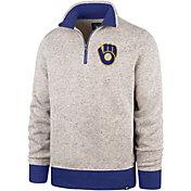 '47 Men's Milwaukee Brewers Kodiak Quarter-Zip Pullover